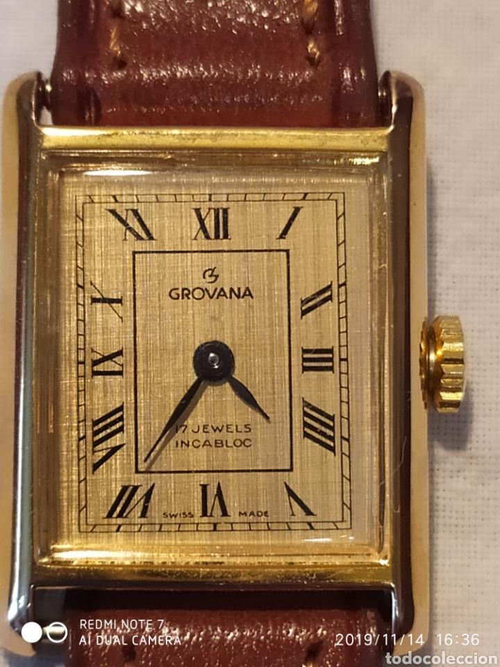 ESPECTACULAR RELOJ SUIZO A CUERDA, SIN ESTRENAR, AÑOS 60, MUJER, GROVANA, ALTA GAMA, VER (Relojes - Pulsera Carga Manual)