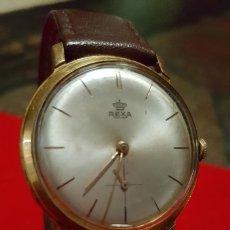Relojes de pulsera: RELOJ SWSS REXA 17RUVIS CHAPADO 10MICRAS ORO DE CUERDA DIAMETRO 34 MILIMTROS FUNCIONA PERFECTAMENTE. Lote 183357023