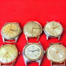 Relojes de pulsera: LOTE DE 6 RELOJES DE CUERDA ANTIGUOS NO FUNCIONAN. Lote 183409416