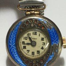 Relojes de pulsera: RELOJ EMVE CARGA MANUAL DEL 1890 APROX LAMINADO DE ORO 14KL EN FUNCIONAMIENTO. Lote 183419271