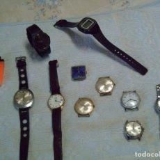 Relojes de pulsera: MAGNÍFICO LOTE 10 RELOJES DE CUERDA? ANTIGUOS, CA. 1970: DUWARD, CAUNY, FESTINA... Lote 183523446