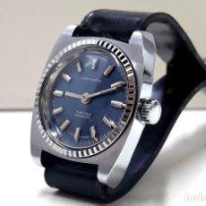 Relojes de pulsera: RELOJ VINTAGE DE SEÑORA SUPER WATCH AÑOS 70 DE CARGA MANUAL CALIBRE FHF 6921 Y NUEVO. Lote 183720033