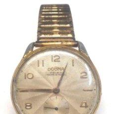 Relojes de pulsera: RELOJ PULSERA DOGMA PRIMA AÑOS 50, CON CORREA FIXO FLEX, VINTAGE. MED. 38 MM SIN CONTAR CORONA. Lote 183786137