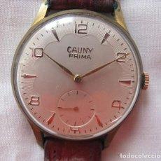 Relojes de pulsera: RELOJ DE CUERDA GRANDE CAUNY PRIMA TEXTURADO. Lote 183923075