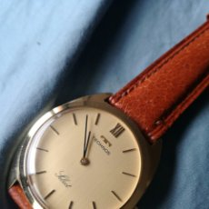Relojes de pulsera: RELOJ MECANICO SUIZO TECHNOS. CHAPADO EN ORO DE STOCK. Lote 221330106