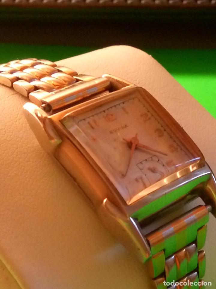 ANTIGUO EDVINA - SUIZO. AÑOS 50. FUNCIONANDO Y REVISADO. NBRE 2019. 22 MM. S/C. CARGA MANUAL. FOTOS (Relojes - Pulsera Carga Manual)