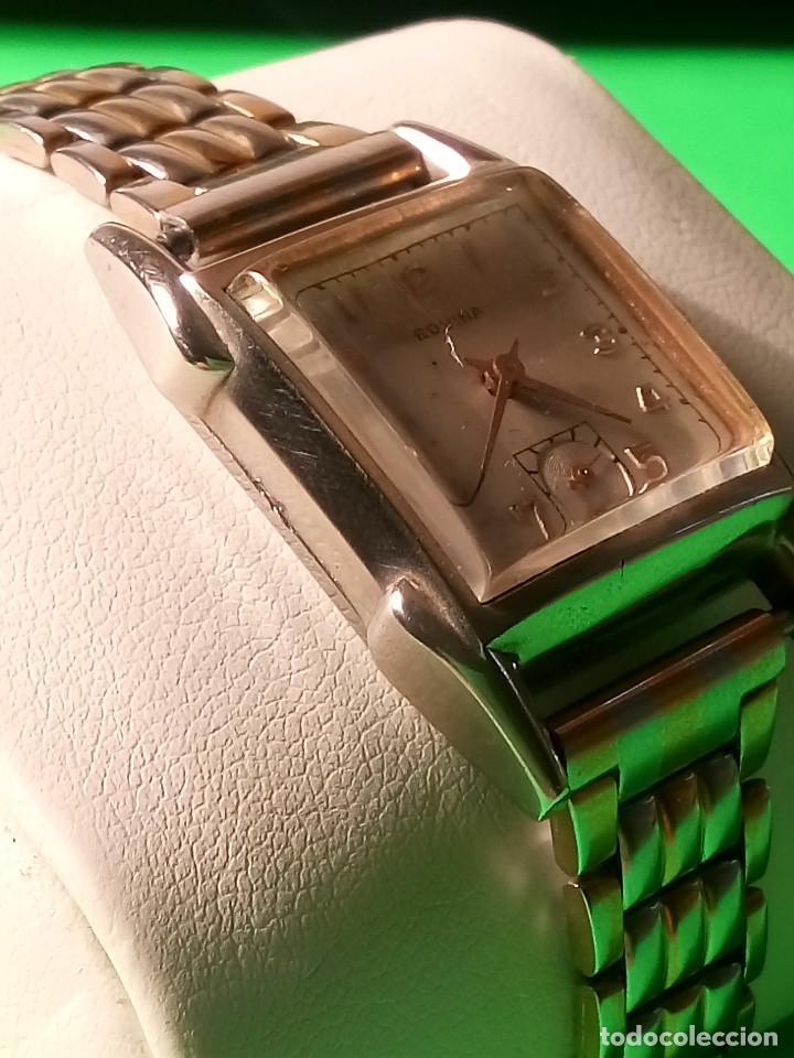 Relojes de pulsera: ANTIGUO EDVINA - SUIZO. AÑOS 50. FUNCIONANDO Y REVISADO. NBRE 2019. 22 MM. S/C. CARGA MANUAL. FOTOS - Foto 3 - 184021336