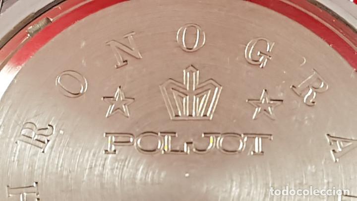 Relojes de pulsera: Reloj cronógrafo mecanico militar ruso POLJOT Buran ( Буран) de 1986 - Foto 12 - 184086755