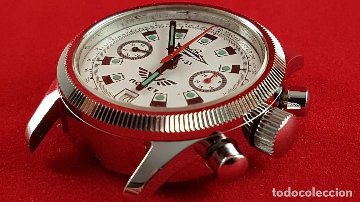Relojes de pulsera: Reloj cronógrafo mecanico militar ruso POLJOT Buran ( Буран) de 1986 - Foto 13 - 184086755