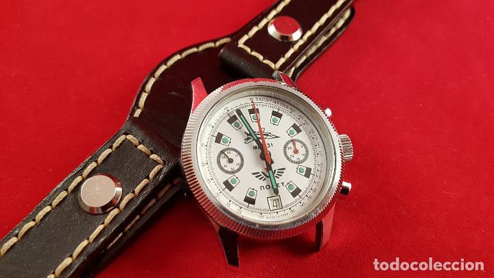 Relojes de pulsera: Reloj cronógrafo mecanico militar ruso POLJOT Buran ( Буран) de 1986 - Foto 17 - 184086755