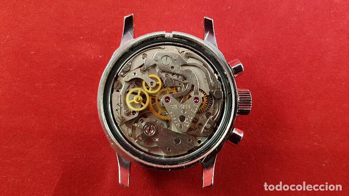 Relojes de pulsera: Reloj cronógrafo mecanico militar ruso POLJOT Buran ( Буран) de 1986 - Foto 18 - 184086755