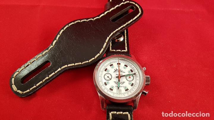 Relojes de pulsera: Reloj cronógrafo mecanico militar ruso POLJOT Buran ( Буран) de 1986 - Foto 22 - 184086755
