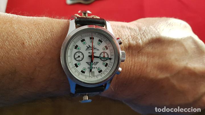Relojes de pulsera: Reloj cronógrafo mecanico militar ruso POLJOT Buran ( Буран) de 1986 - Foto 24 - 184086755