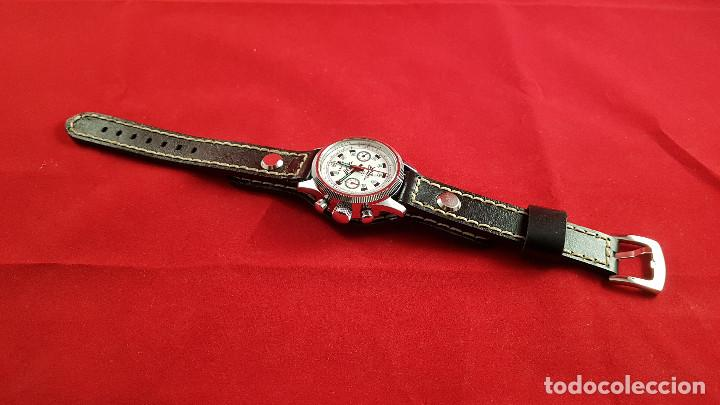 Relojes de pulsera: Reloj cronógrafo mecanico militar ruso POLJOT Buran ( Буран) de 1986 - Foto 27 - 184086755