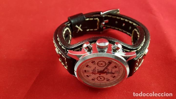 Relojes de pulsera: Reloj cronógrafo mecanico militar ruso POLJOT Buran ( Буран) de 1986 - Foto 28 - 184086755