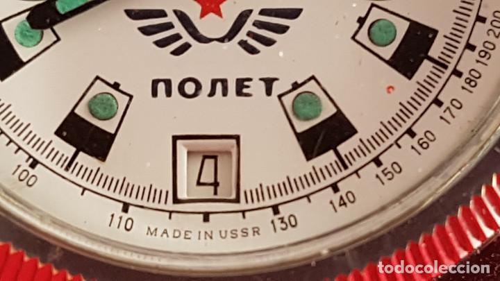 Relojes de pulsera: Reloj cronógrafo mecanico militar ruso POLJOT Buran ( Буран) de 1986 - Foto 31 - 184086755