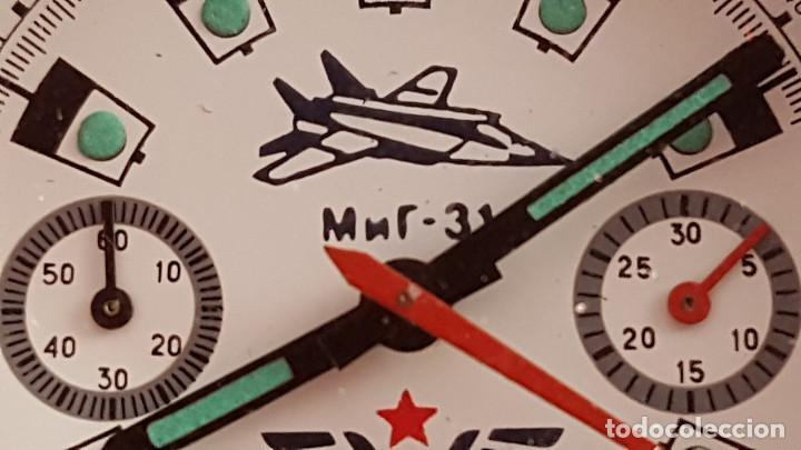 Relojes de pulsera: Reloj cronógrafo mecanico militar ruso POLJOT Buran ( Буран) de 1986 - Foto 32 - 184086755