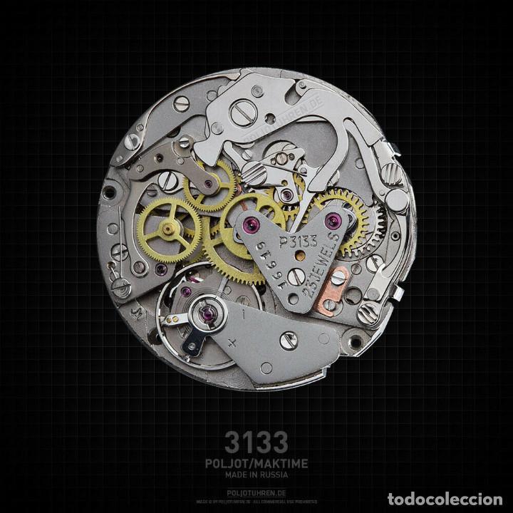 Relojes de pulsera: Reloj cronógrafo mecanico militar ruso POLJOT Buran ( Буран) de 1986 - Foto 37 - 184086755