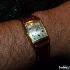 Relojes de pulsera: PRECIOSO RELOJ FORTIS SWISS MADE 17 RUBIS AÑOS 40 DUOTONO CAJA TIPO TANK RARO SEGUNDERO CENTRAL. Lote 184135626