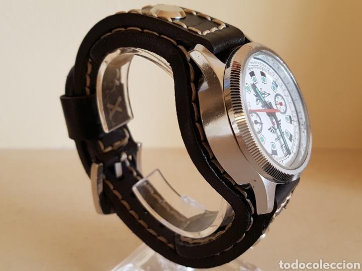 Relojes de pulsera: Reloj cronógrafo mecanico militar ruso POLJOT Buran ( Буран) de 1986 - Foto 7 - 184086755
