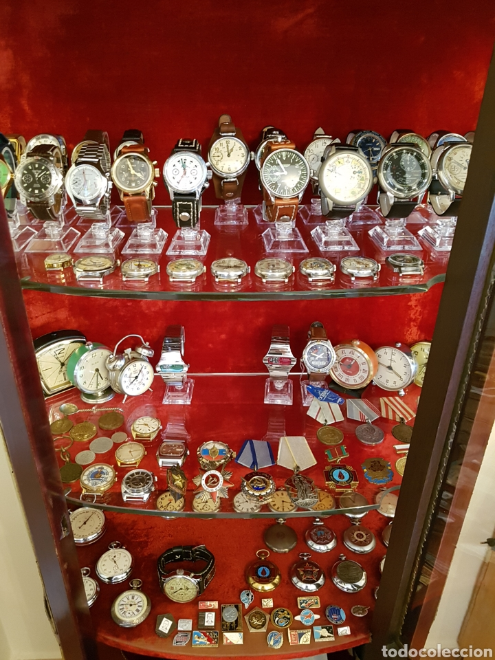 Relojes de pulsera: Reloj cronógrafo mecanico militar ruso POLJOT Buran ( Буран) de 1986 - Foto 9 - 184086755