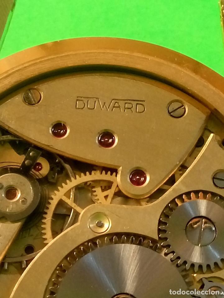 Relojes de pulsera: RELOJ DUWARD AÑOS 50. CARGA MANUAL. 34.40 MM. S/C. CAJA EN PLAQUE ORO. NO FUNCIONA. DESCRIPCION Y - Foto 2 - 184341412