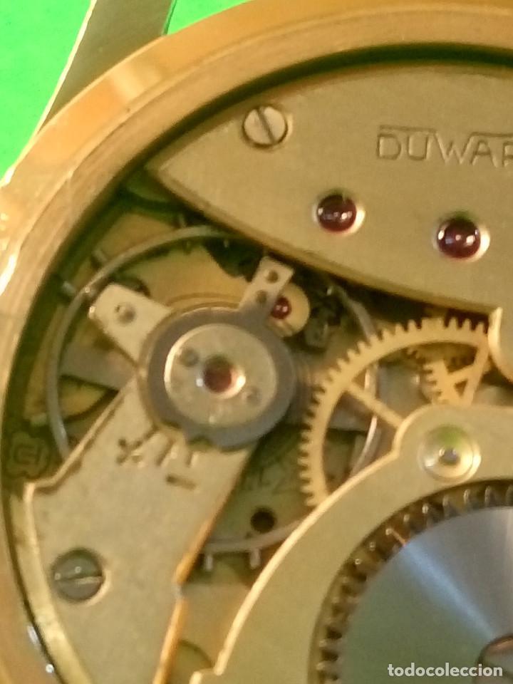 Relojes de pulsera: RELOJ DUWARD AÑOS 50. CARGA MANUAL. 34.40 MM. S/C. CAJA EN PLAQUE ORO. NO FUNCIONA. DESCRIPCION Y - Foto 3 - 184341412