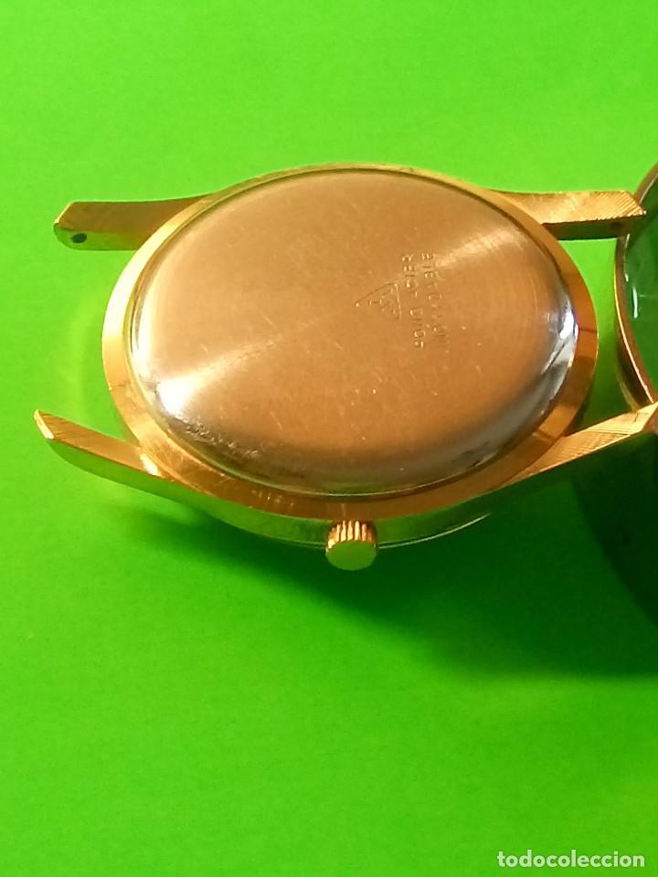 Relojes de pulsera: RELOJ DUWARD AÑOS 50. CARGA MANUAL. 34.40 MM. S/C. CAJA EN PLAQUE ORO. NO FUNCIONA. DESCRIPCION Y - Foto 8 - 184341412