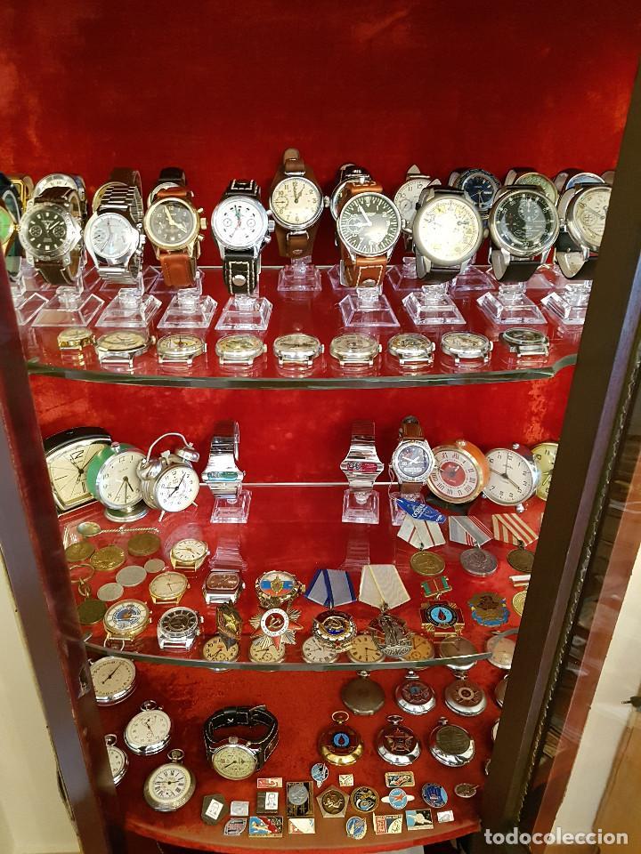 Relojes de pulsera: Reloj cronógrafo mecanico militar ruso POLJOT Buran ( Буран) de 1986 - Foto 43 - 184086755
