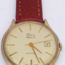 Relojes de pulsera: RELOJ TITAN SUPER23 CARGA MANUAL. Lote 184701033