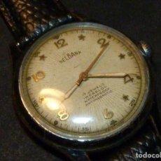 Relojes de pulsera: PRECIOSO RELOJ DELBANA SEGUNDERO CENTRAL CALIBRE FELSA 465 CARGA MANUAL 17 RUBIS AÑOS 50. Lote 184810665