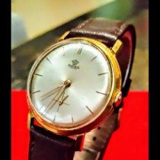 Relojes de pulsera: RELOJ SWSS REXA DE CUERDA CHAPADO 10MICRAS ORO DE CUERDA DIAMETRO 35MILIMTROS FUNCIONA PERFECTAMENTE. Lote 184824525