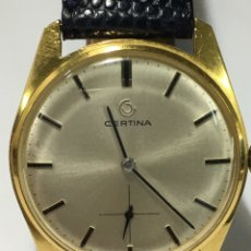 Relojes de pulsera: RELOJ CERTINA CARGA MANUAL CAJA CHAPADA ORO MAQUINARIA ORIGINAL 28-10 COMO NUEVO. Lote 185689032