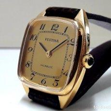 Relojes de pulsera: RELOJ VINTAGE FESTINA DE SEÑORA AÑOS 60 DE CARGA MANUAL Y NUEVO. Lote 185721066