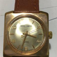 Relojes de pulsera: RELOJ PATIC-SWISS CARGA MANUAL Y CAJA CHAPADA MAQUINARIA SWISS PARA COLECCIONISTAS. Lote 185737775
