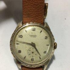 Relojes de pulsera: RELOJ CARTEL 15 RUBIS CARGA MANUAL CAJA ALUMINIO MAQUINARIA SWISS EN FUNCIONAMIENTO. Lote 185740882