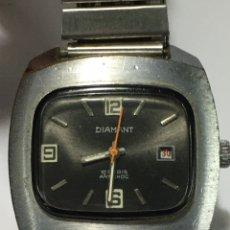 Relojes de pulsera: RELOJ DIAMANT CARGA MANUAL 17 RUBIS MODELO VINTAGE. Lote 186013765