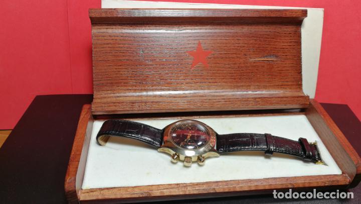 Relojes de pulsera: El mejor reloj ruso mecánico, el cronógrafo Poljot cal. 3133, años 70 y 23 rubís - Foto 6 - 186364075