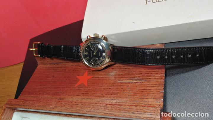 Relojes de pulsera: El mejor reloj ruso mecánico, el cronógrafo Poljot cal. 3133, años 70 y 23 rubís - Foto 14 - 186364075