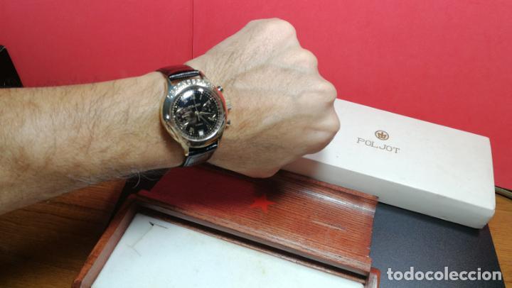 Relojes de pulsera: El mejor reloj ruso mecánico, el cronógrafo Poljot cal. 3133, años 70 y 23 rubís - Foto 19 - 186364075