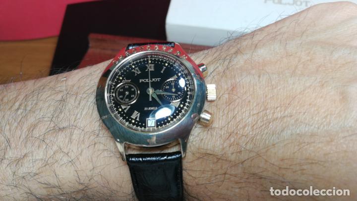 Relojes de pulsera: El mejor reloj ruso mecánico, el cronógrafo Poljot cal. 3133, años 70 y 23 rubís - Foto 23 - 186364075