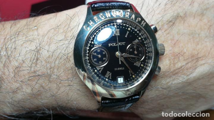 Relojes de pulsera: El mejor reloj ruso mecánico, el cronógrafo Poljot cal. 3133, años 70 y 23 rubís - Foto 33 - 186364075