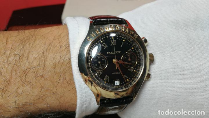 Relojes de pulsera: El mejor reloj ruso mecánico, el cronógrafo Poljot cal. 3133, años 70 y 23 rubís - Foto 51 - 186364075