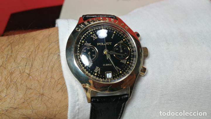Relojes de pulsera: El mejor reloj ruso mecánico, el cronógrafo Poljot cal. 3133, años 70 y 23 rubís - Foto 52 - 186364075