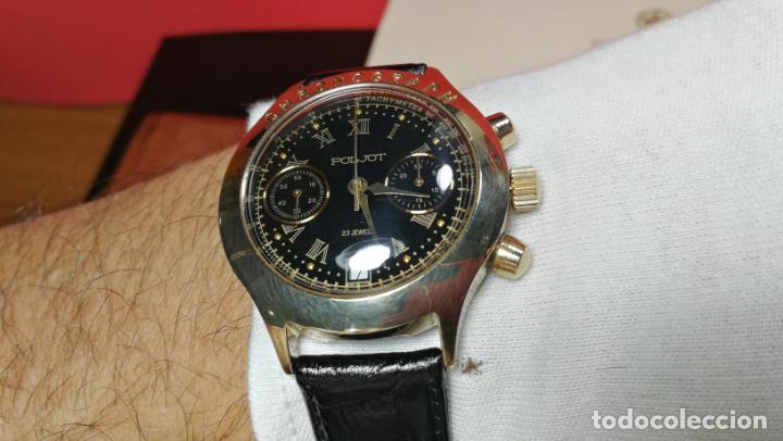 Relojes de pulsera: El mejor reloj ruso mecánico, el cronógrafo Poljot cal. 3133, años 70 y 23 rubís - Foto 54 - 186364075