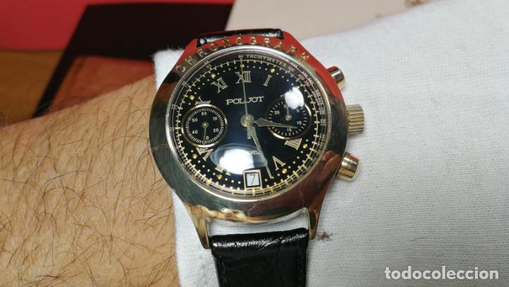 Relojes de pulsera: El mejor reloj ruso mecánico, el cronógrafo Poljot cal. 3133, años 70 y 23 rubís - Foto 57 - 186364075
