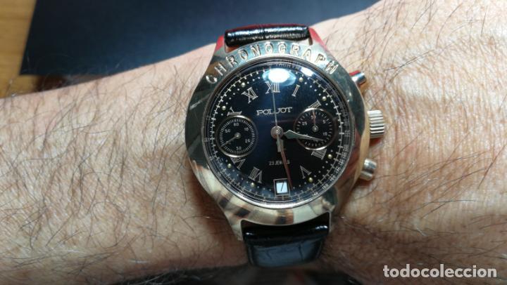 Relojes de pulsera: El mejor reloj ruso mecánico, el cronógrafo Poljot cal. 3133, años 70 y 23 rubís - Foto 69 - 186364075