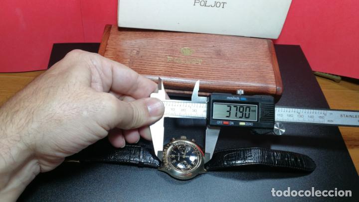 Relojes de pulsera: El mejor reloj ruso mecánico, el cronógrafo Poljot cal. 3133, años 70 y 23 rubís - Foto 71 - 186364075