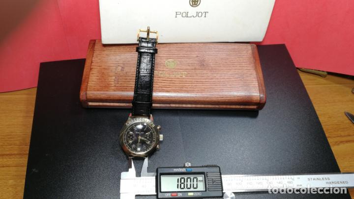 Relojes de pulsera: El mejor reloj ruso mecánico, el cronógrafo Poljot cal. 3133, años 70 y 23 rubís - Foto 75 - 186364075