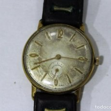 Relojes de pulsera: RELOJ LA CHAUX DE FONDS.CHAPADO ORO. NO FUNCIONA.. Lote 186404366
